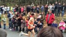 41e course Alençon-Médavy : arrivée des premiers coureurs en forêt d'Écouves