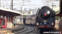 Une locomotive à vapeur 241 P17 en gare de Nevers le 13 Avril 2014 par Cekispass.fr