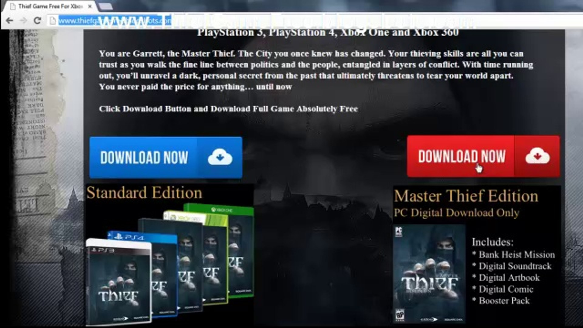 Download Free Thief Game Crack - Xbox 360 / Xbox One / PS3 / PS4 / PC