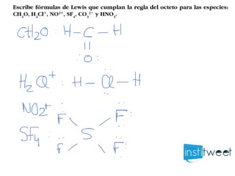 Ejercicio Resuelto Escribir Fórmulas De Lewis