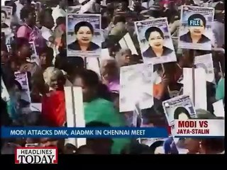 Modi attacks DMK, AIADMK in Chennai maat