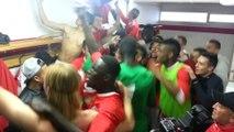 La joie des jeunes du Stade de Reims après la victoire face à Rennes