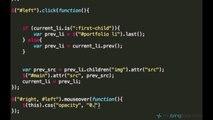 jQuery and AJAX Tutorials 27   Optimizing jQuery Arrows