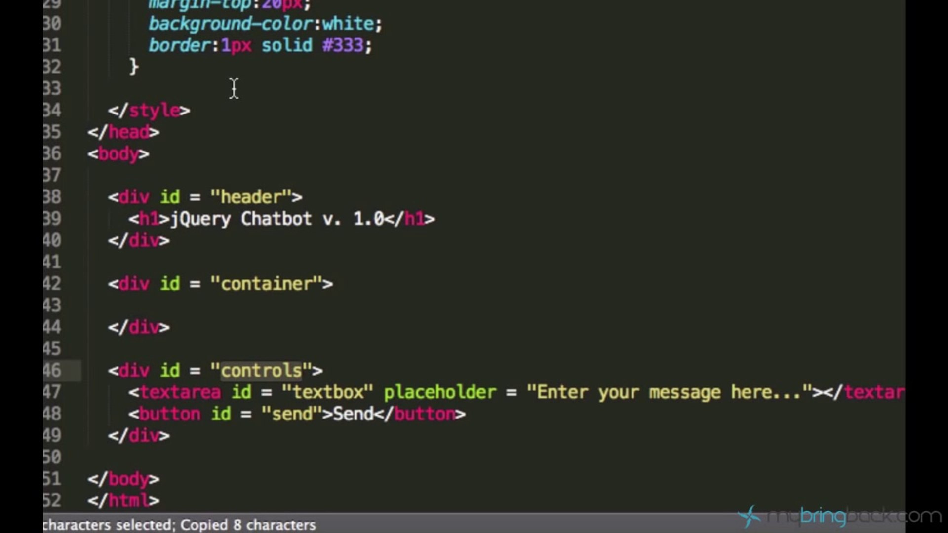 jQuery and AJAX Tutorials 6   Create Chat box User Interface