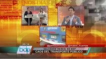 Alcalde Heresi: Reforma de transporte de Susana Villarán es solo una ficción