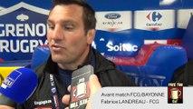[Avant Match] Itw Fabrice LANDREAU (FCG RUGBY) avant FCG/BAYONNE
