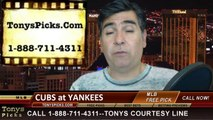 New York Yankees vs. Chicago Cubs Pick Prediction MLB Odds Preview 4-15-2014