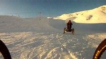 Quadbike / Four wheels bike - Descente piste de ski / ski run downhill - Orcières 1850