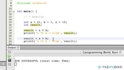 Learn C Programming Tutorial 1 12 Modulus