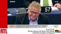 VIDÉO - Dernier discours de Daniel Cohn-Bendit au Parlement européen