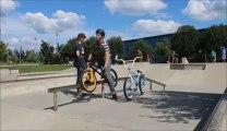 Violent BMX crash : New trick = new Fail!