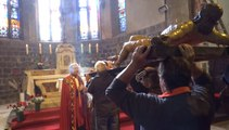 DESNOS MICHEL PRESENTE LA DESCENTE DE LA CROIX DU ST CHRIST A ST SEVER  AGDE  17 4 2014