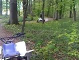 quad et moto cross shineray, petit saut de bosse