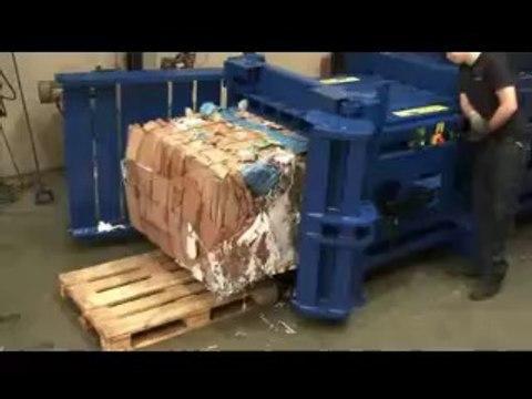ASD Yatay Balya Pres Makinası - Karton