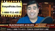St Louis Blues vs. Chicago Blackhawks Pick Prediction NHL Pro Hockey Playoff Game 1 Odds Preview 4-17-2014