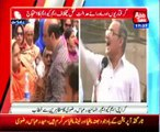 Karachi Leader of MQM Haider Abbas Rizvi addressing with protesters