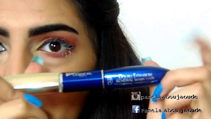 How to apply false eyelashes,(كيفية وضع الرموش الإصطناعية(تر
