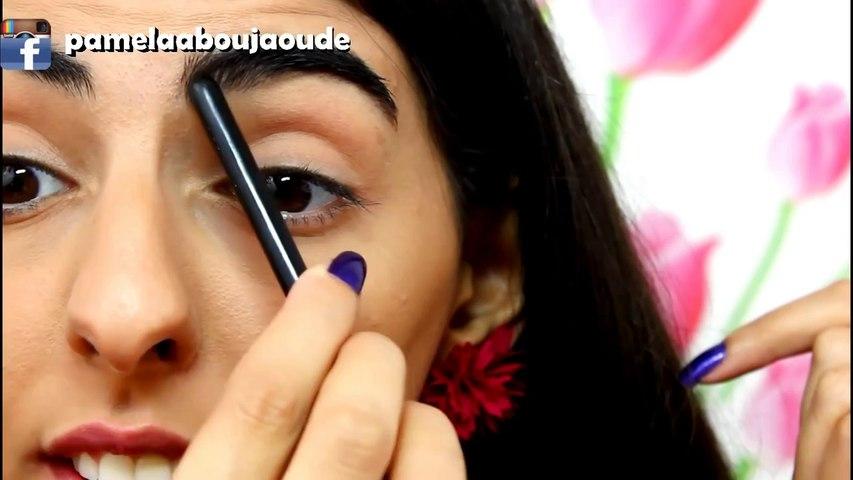 how to _ Eyebrow tutorial , طريقة رسم الحواجب