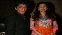 Bollywood Girl Juhi Chawla & Super Star King Khan SRK Shahrukh Khan at Ganesh Hegde wedding reception