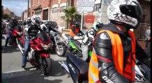 Aubers : un cortège de 500 motos accompagne l'enterrement des deux motards tués dimanche