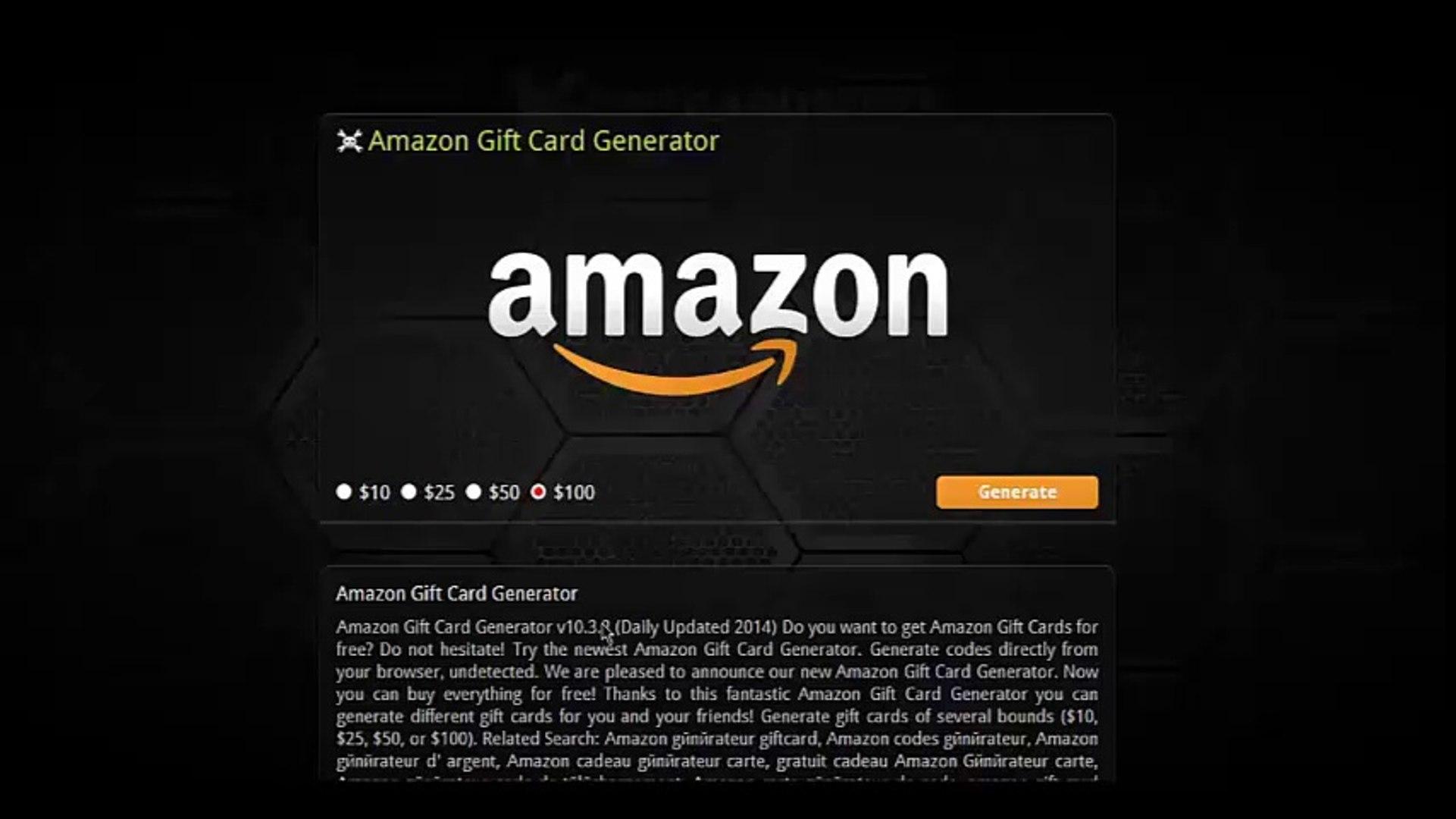Gratuit Amazon Cartes Cadeaux Generateur Telecharger Free Amazon Gift Card Code Generator 2015 Video Dailymotion