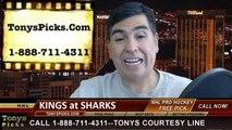 NHL Playoff Pick Game 2 San Jose Sharks vs.  LA Kings Odds Prediction Preview 4-20-2014