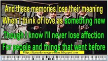The Beatles-In my life instrumental karaoke version with lirycs on the screen