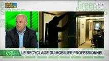 Le recyclage du mobilier professionnel: Arnaud Humbert-Droz et Gilles Berhault, dans Green Business – 20/04 2/4