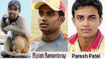 orissa ranji cricketer-biplab-samantray-basant-mohanty-paresh-patel-and- natraj behera-ubnsold -7-ipl-auction-2014-from orissa ranji 4 probable uncapped cricket -player