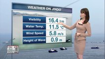 Mild weather conditions forecast on Jindo for Monday