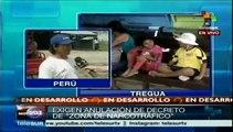 Peruanos de Madre de Dios exigen a pdte. Humala resuelva sus demandas