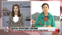No news of survival amid ongoing rescue efforts on capsized Korean ferry