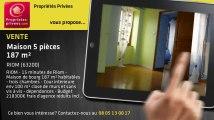 A vendre - maison - RIOM (63200) - 5 pièces - 187m²