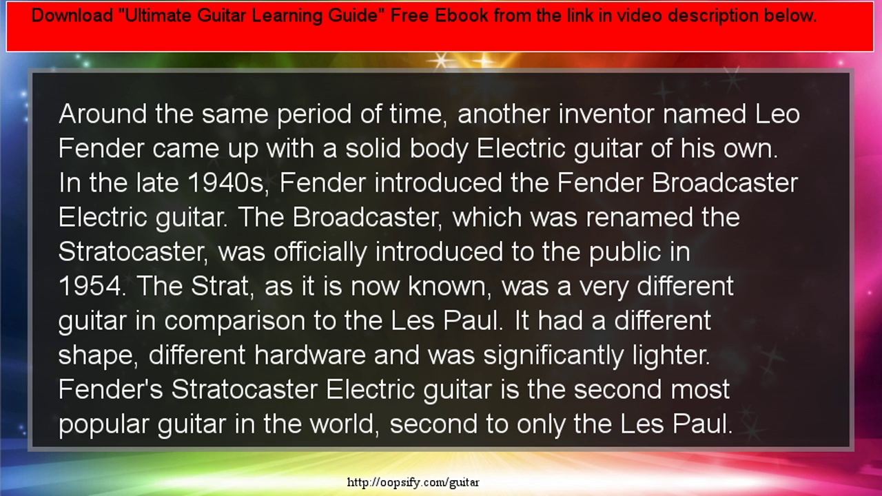 A Brief History Of The Electric Guitar