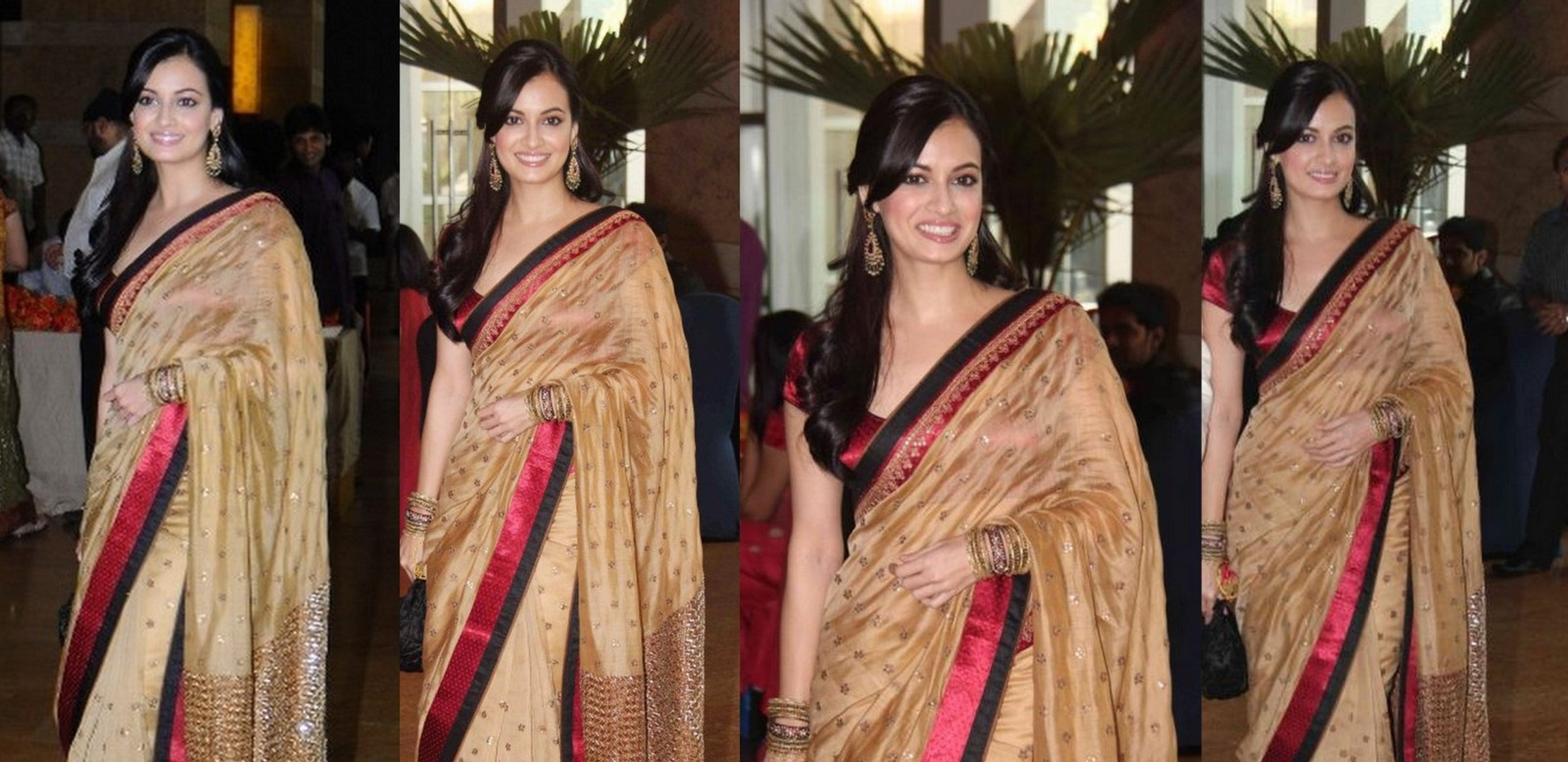 Bollywood Hot Girl actress DIA Mirza In Saree | Dia Mirza hot saree stills Dia Mirza hot in saree