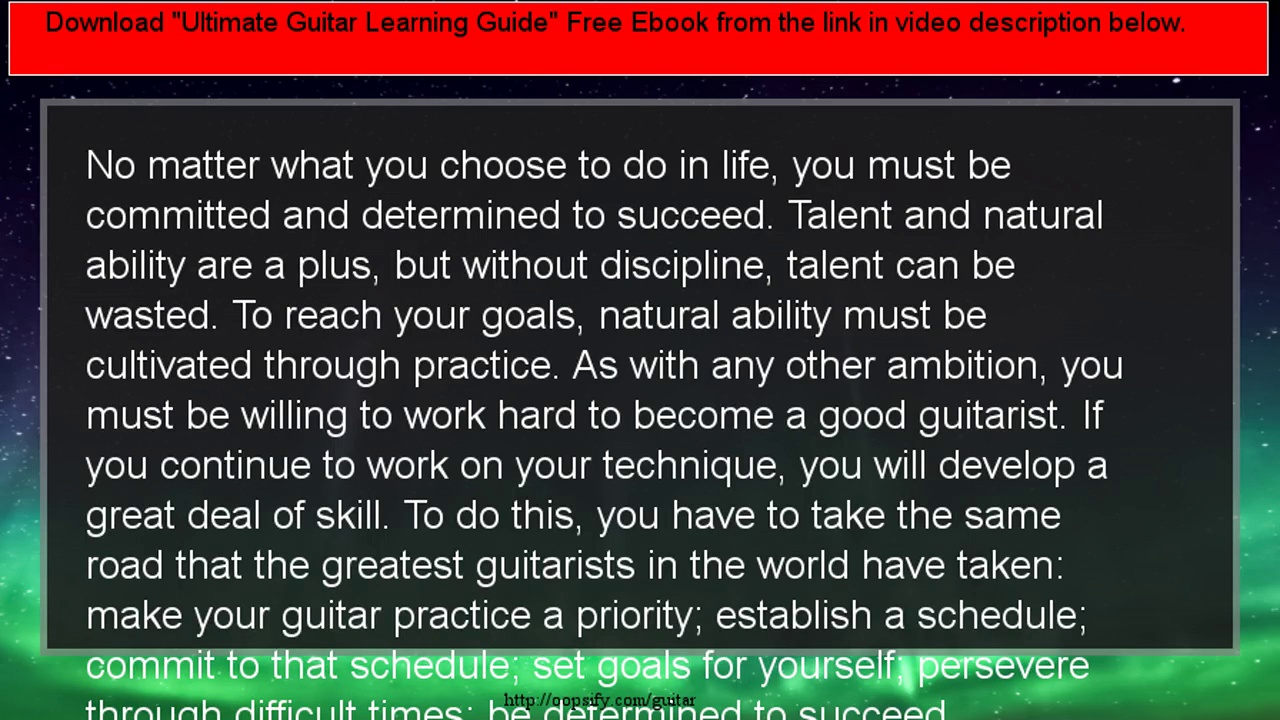 The Importance Of Guitar Practice