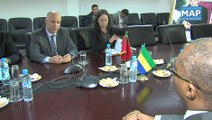 Birou reçoit le ministregabonais des Droits humains, de l'Egalité des chances et des Gabonais de l'Etranger