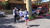 Kris Jenner Wears Short Dress To Easter Service And Brings Ex Bruce Jenner