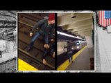 Man run over by train: NYC subway train caught on camera running over screaming man (VIDEO)