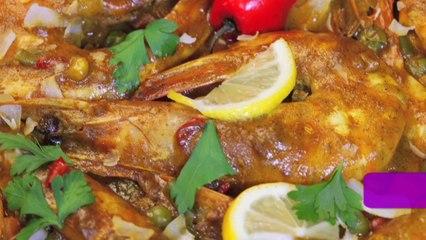 Thai coconut curry shrimp _ روبيان بالكاري وصلصة جوز الهند