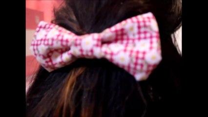 DIY ☆Little Hair Bow- اصنعيها بنفسك ☆فيونكه للشعر