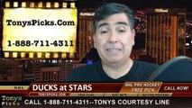 NHL Game 4 Pick Prediction Dallas Stars vs. Anaheim Ducks Odds Playoff Preview 4-23-2014