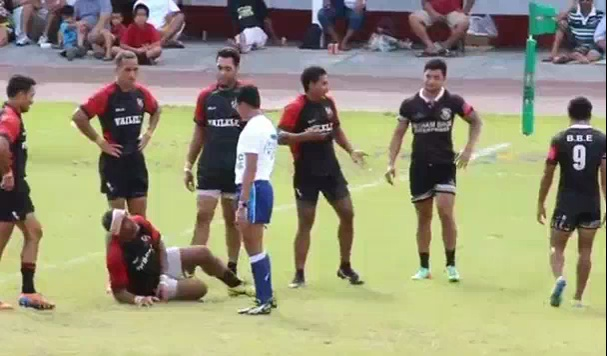 Rugby Player Flops And Crowd Goes Wild