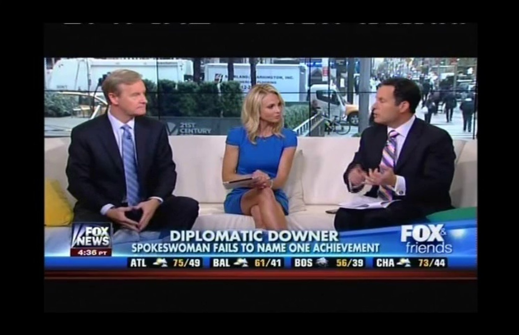 Ainsley Earhardt, Heather Childers and Elisabeth Hasselbeck Legs 4-23-14