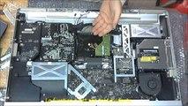 iMac 2009 27 pouces remontage lecteur graveur dvd