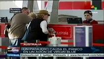 Pasajero causa pánico en un avión de Virgin Blue