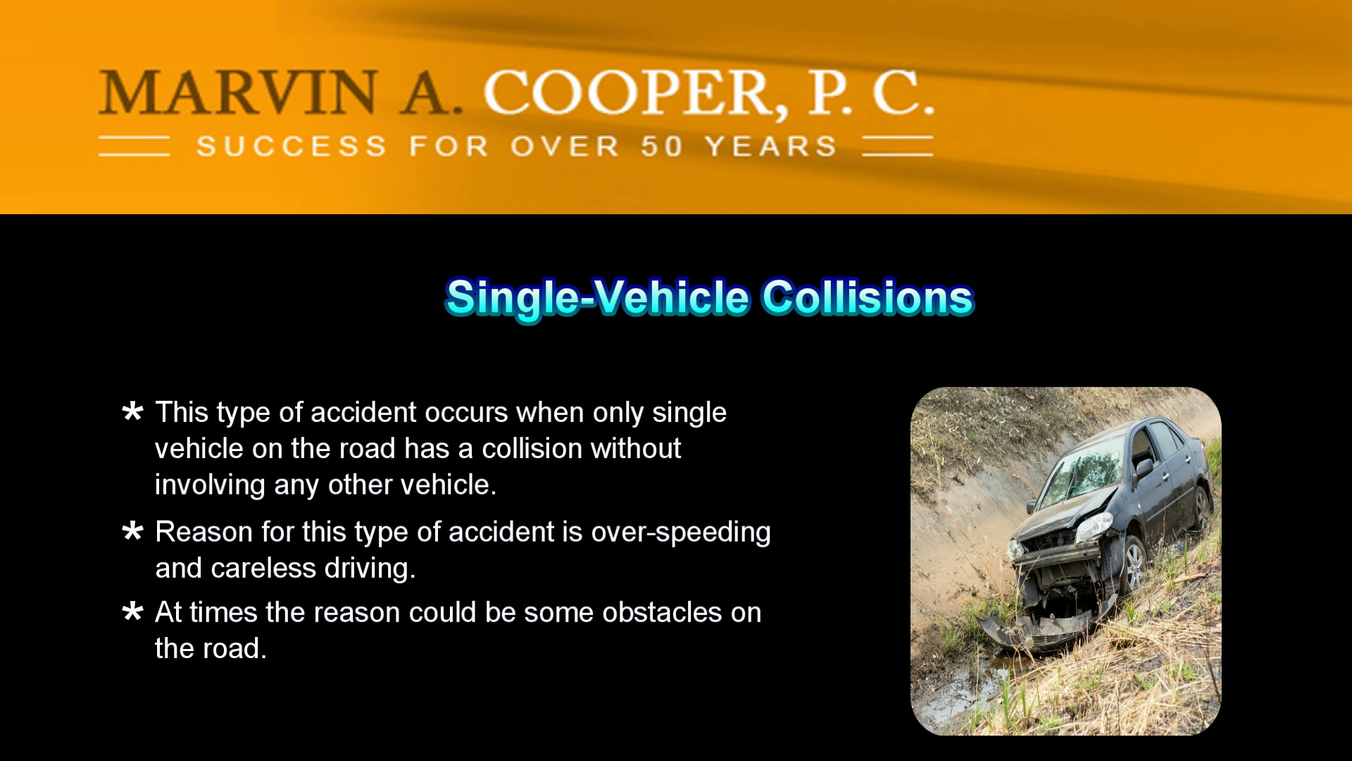 How Marvin A Cooper P.C can help in a vehicle accidents case in White Plains NY