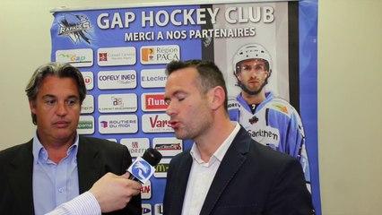 Entrevue avec les deux présidents des Rapaces de Gap après l'officialisation de Luciano Basile à la tête de l'équipe