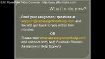 Business Finance Assignment Help   Business Finance Homework Help