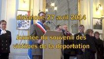 27 avril 2014 journée de la déportation à Avranches : discours à l'hôtel de ville
